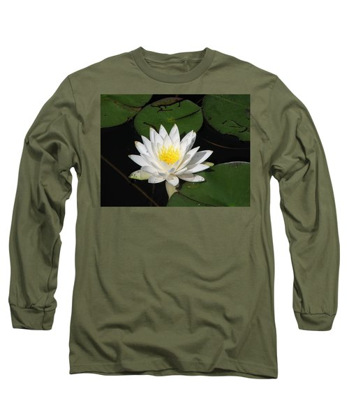 White Lily Pad Long Sleeve T-Shirt