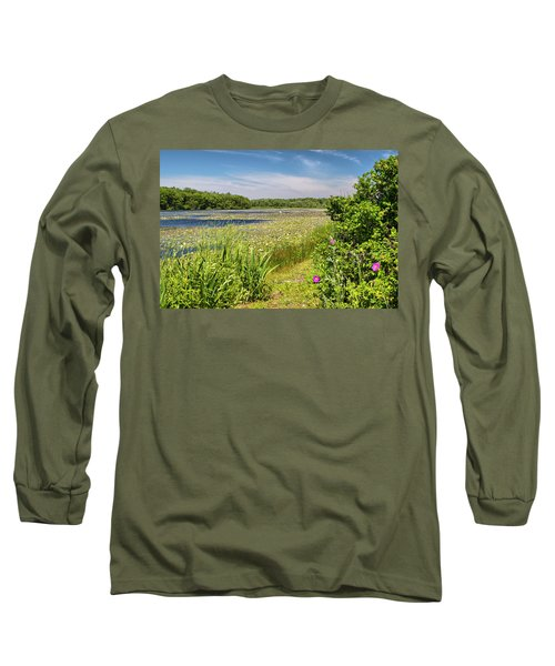 White Lily Pond  Long Sleeve T-Shirt