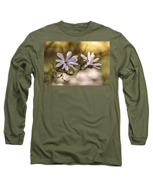Long Sleeve T-Shirt featuring the photograph White Magnolia by Jaroslaw Blaminsky