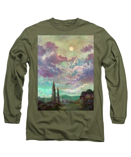 White Moon Rising Long Sleeve T-Shirt