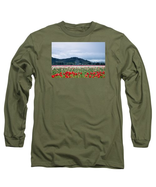 Long Sleeve T-Shirt featuring the photograph White Pass Highway With Tulips by E Faithe Lester