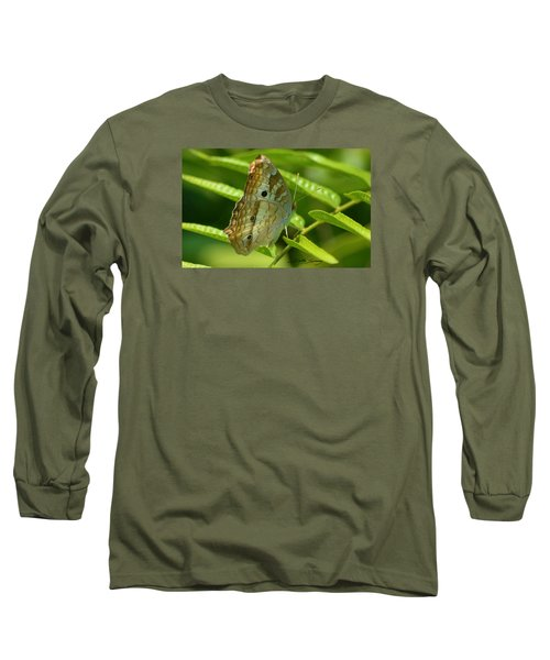 White Peacock Butterfly 2 Long Sleeve T-Shirt
