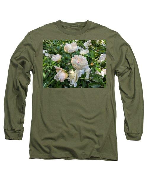 White Peonies In North Carolina Long Sleeve T-Shirt