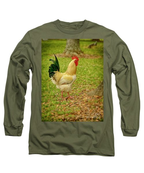 White Rooster Long Sleeve T-Shirt