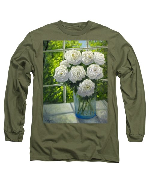 White Roses Long Sleeve T-Shirt