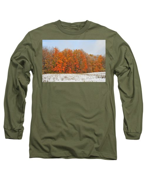 White Snow In Autumn Long Sleeve T-Shirt