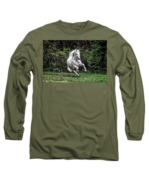 White Stallion Long Sleeve T-Shirt