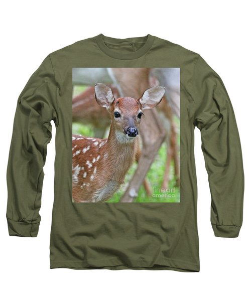White Tail Deer Fawn Long Sleeve T-Shirt