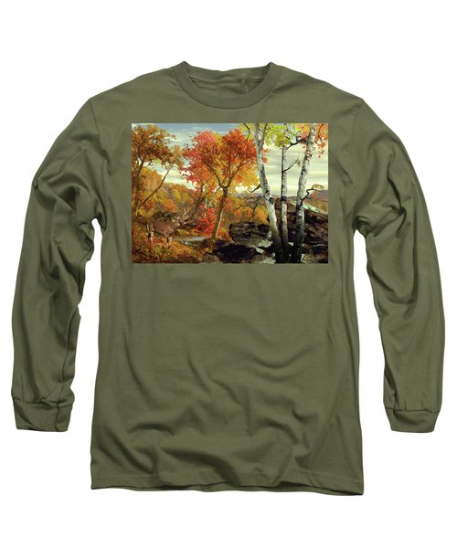 White-tailed Deer In The Poconos Long Sleeve T-Shirt