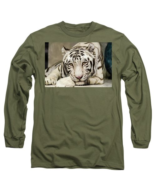 White Tiger Looking At You Long Sleeve T-Shirt