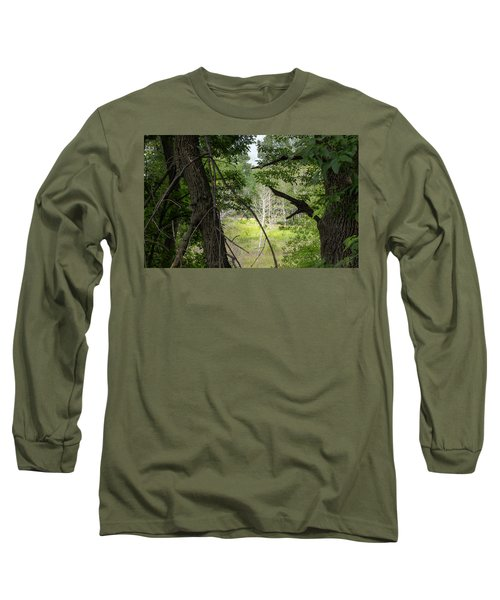 White Tree In Magic Forest Long Sleeve T-Shirt