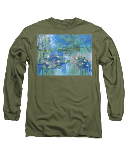 White Water Lilies Long Sleeve T-Shirt