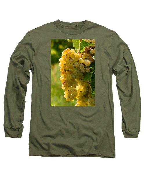 White Wine Grapes Long Sleeve T-Shirt by Teri Virbickis