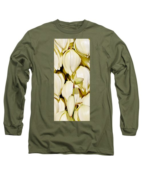 white Yucca flowers Long Sleeve T-Shirt by Werner Lehmann