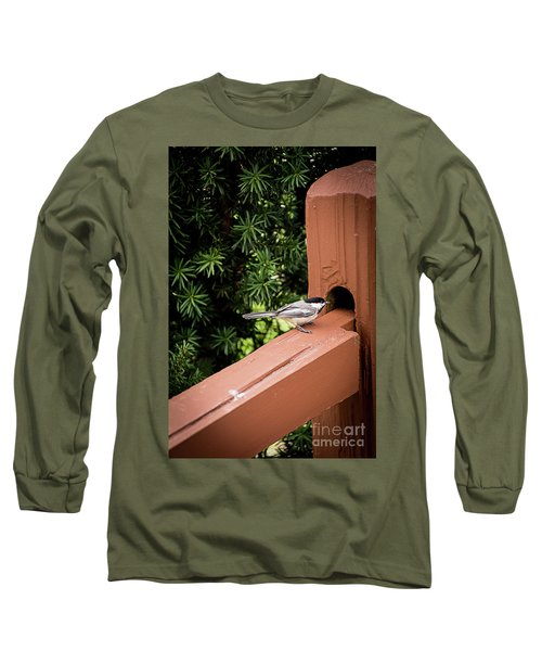 Who's In There? Long Sleeve T-Shirt by Deborah Klubertanz