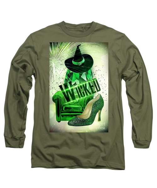 Long Sleeve T-Shirt featuring the digital art Wicked by Mo T