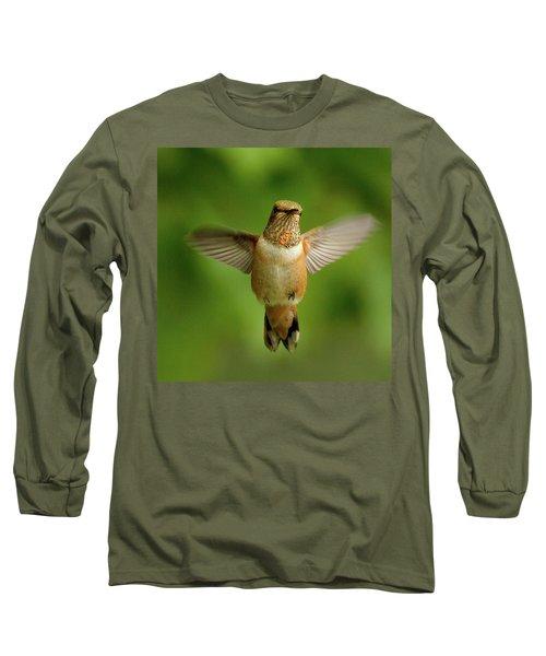 Wide Open Long Sleeve T-Shirt by Sheldon Bilsker