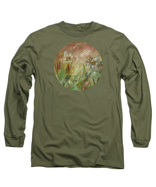 Long Sleeve T-Shirt featuring the painting Wil O' The Wisp by Mary Wolf