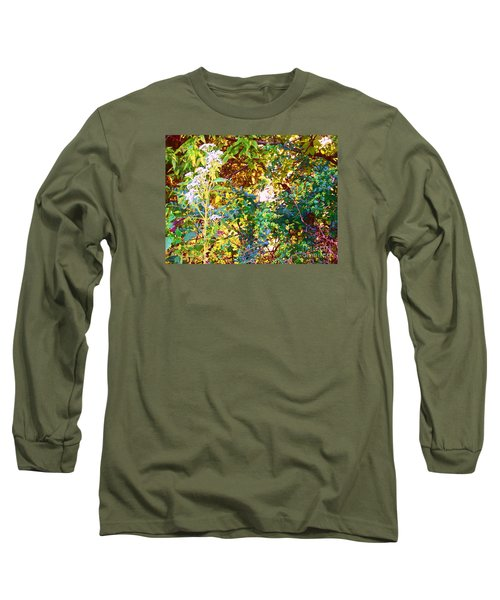 Long Sleeve T-Shirt featuring the photograph wild and Weedy by Shirley Moravec