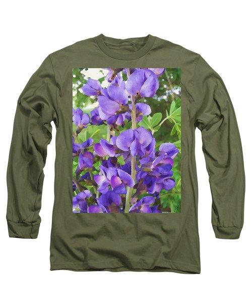 Wild Blue False Indigo Long Sleeve T-Shirt