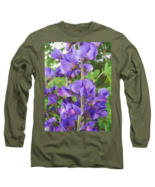 Wild Blue False Indigo Long Sleeve T-Shirt