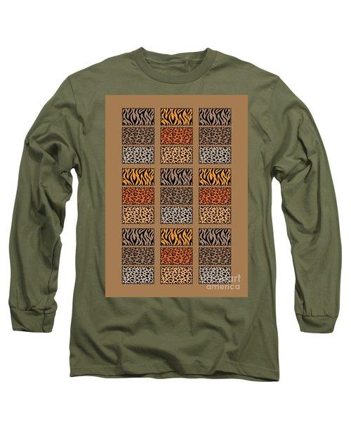 Wild Cats Patchwork Long Sleeve T-Shirt
