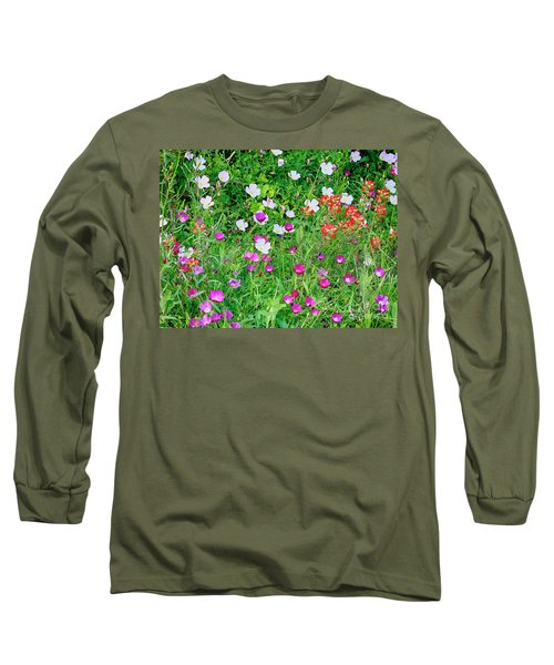 Wild Color Patch Long Sleeve T-Shirt