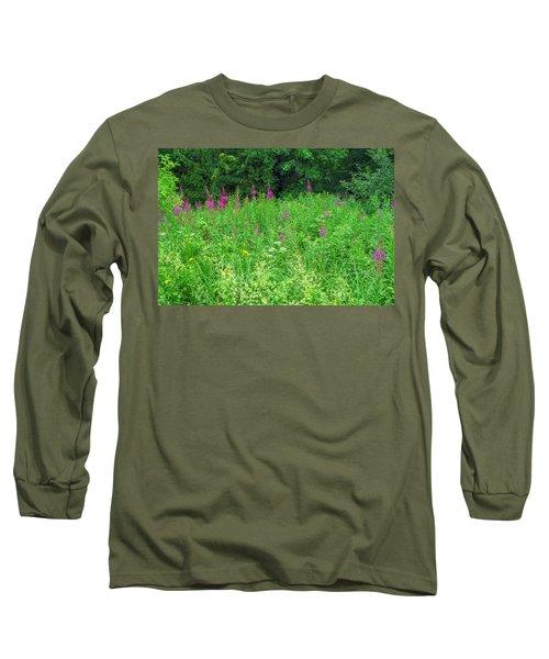 Wild Flowers And Shrubs In Vogelsberg Long Sleeve T-Shirt