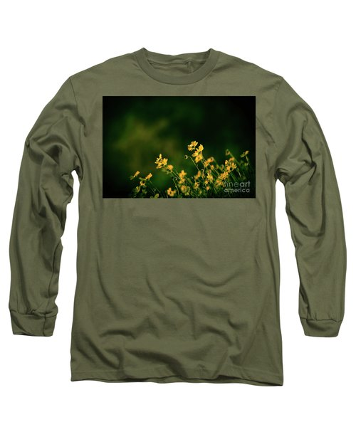 Long Sleeve T-Shirt featuring the photograph Evening Wild Flowers by Kelly Wade