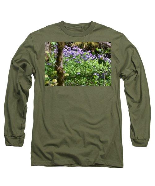 Wild Flowers On A Hike Long Sleeve T-Shirt