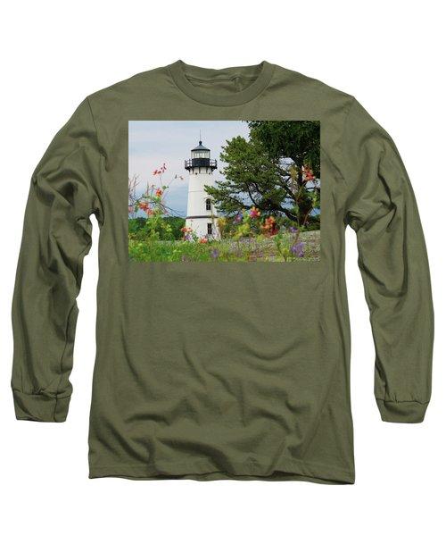 Wild Flowers On Rock Island Long Sleeve T-Shirt
