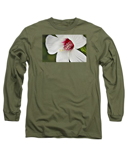 Wild Hibiscus Moscheutos_2a Long Sleeve T-Shirt