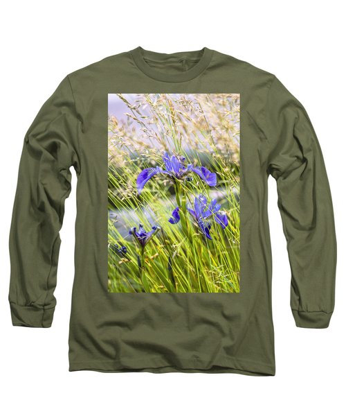 Wild Irises Long Sleeve T-Shirt by Marty Saccone
