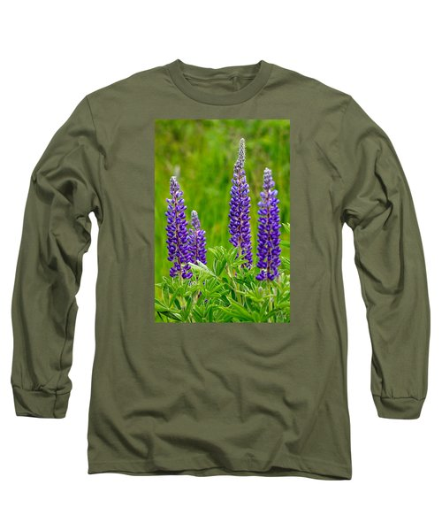 Wild Lupine Long Sleeve T-Shirt by Karon Melillo DeVega