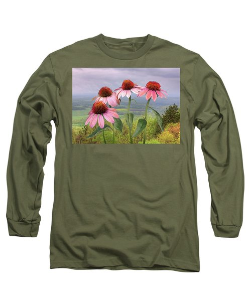 Wild Purple Coneflowers Long Sleeve T-Shirt