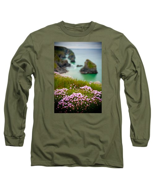 Wild Sea Pinks In Cornwall Long Sleeve T-Shirt