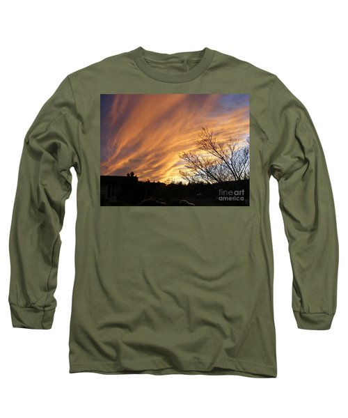 Wild Sky Of Autumn Long Sleeve T-Shirt by Barbara Griffin