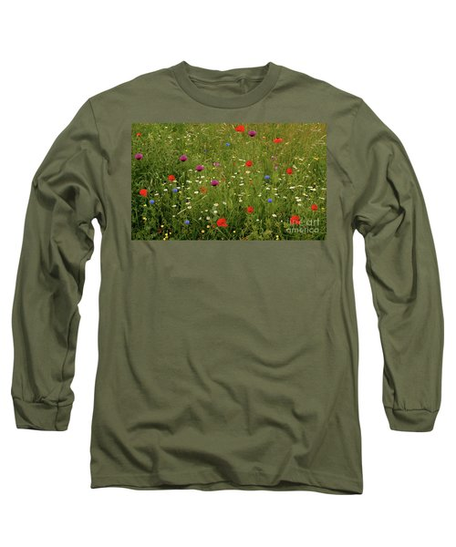 Wild Summer Meadow Long Sleeve T-Shirt