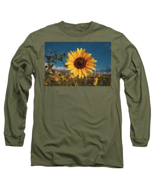 Wild Sunflower Long Sleeve T-Shirt by Jay Stockhaus