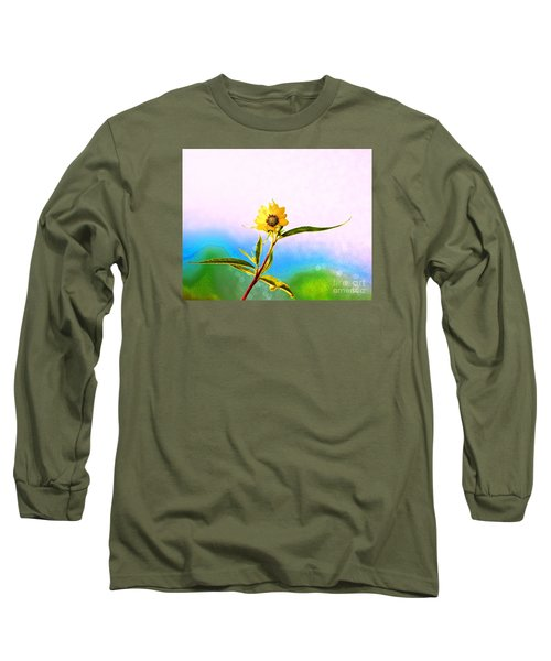 Long Sleeve T-Shirt featuring the photograph Wild Sunflower by Lila Fisher-Wenzel