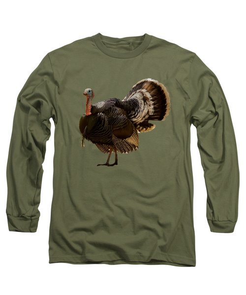Wild Turkey Confrontation Long Sleeve T-Shirt by Jean Noren