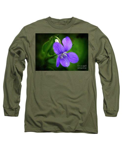 Wild Violet Flower Long Sleeve T-Shirt