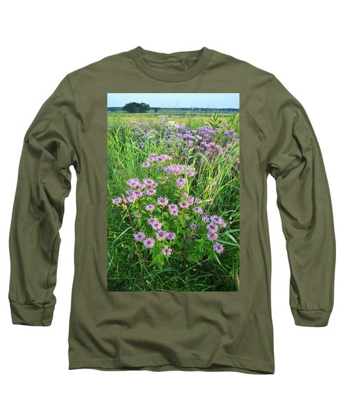 Wildflower Bouquet In Glacial Park Long Sleeve T-Shirt