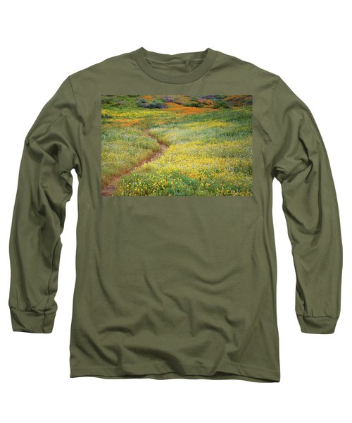 Long Sleeve T-Shirt featuring the photograph Wildflower Field Near Diamond Lake In California by Jetson Nguyen