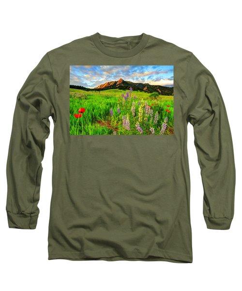 Wildflower Mix Long Sleeve T-Shirt by Scott Mahon