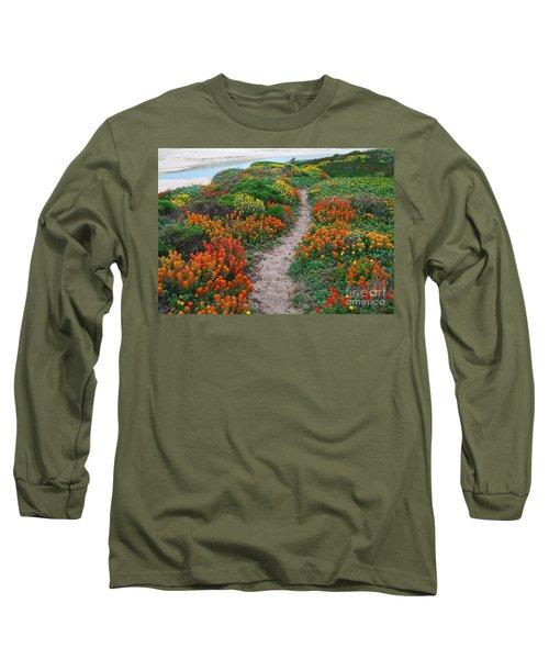 Wildflower Path At Ribera Beach Long Sleeve T-Shirt