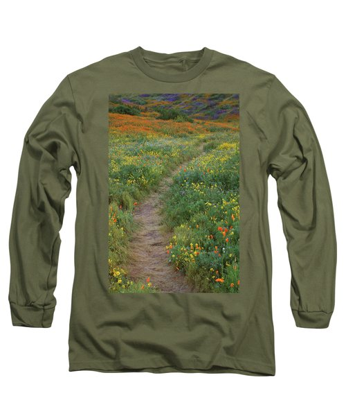 Long Sleeve T-Shirt featuring the photograph Wildflower Trail At Diamond Lake In California by Jetson Nguyen