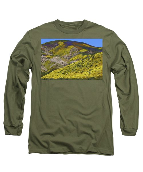 Wildflowers Galore At Carrizo Plain National Monument In California Long Sleeve T-Shirt by Jetson Nguyen