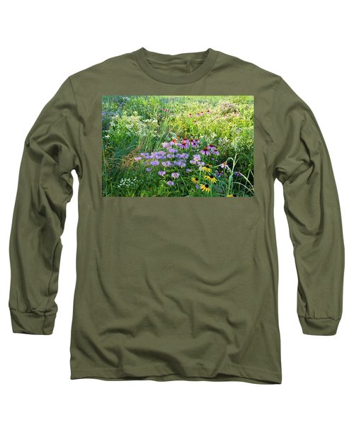 Wildflowers In Moraine Hills State Park Long Sleeve T-Shirt