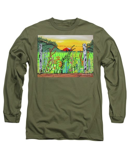 Wildflowers On The Farm Long Sleeve T-Shirt